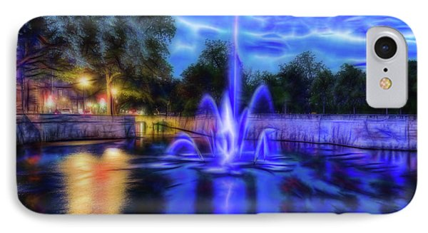IPhone Case featuring the photograph Electric Fountain  by Scott Carruthers