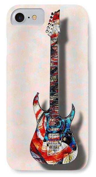 Electric Guitar - Psychobilly - Musical Instruments IPhone Case by Anastasiya Malakhova