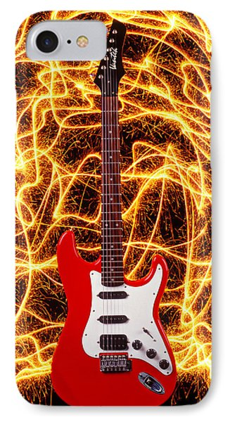 Electric Guitar With Sparks Phone Case by Garry Gay