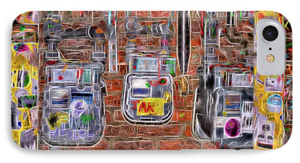 Electric Meters IPhone Case by Spencer McDonald