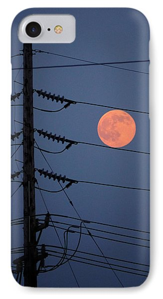 Electric Moon IPhone Case by Richard Reeve