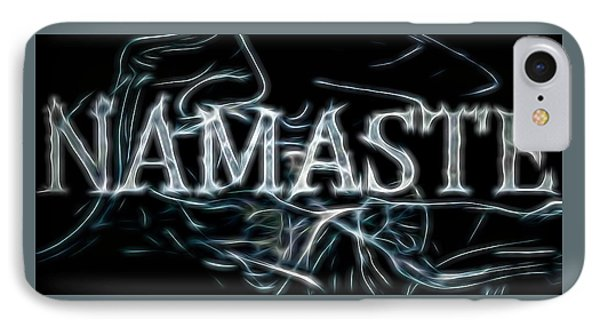 Electric Namaste IPhone Case by Dan Sproul
