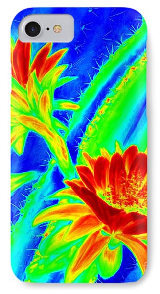 Electric Night Bloomer  IPhone Case by Summer Celeste