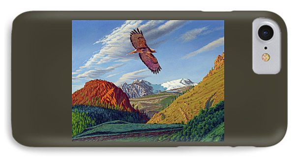 Electric Peak With Hawk IPhone Case by Paul Krapf