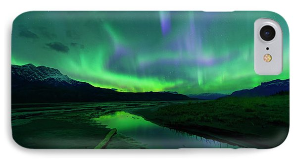 IPhone Case featuring the photograph Electric Skies Over Jasper National Park by Dan Jurak