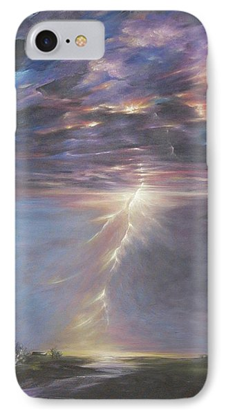 IPhone Case featuring the painting Electric Sky by Dina Dargo
