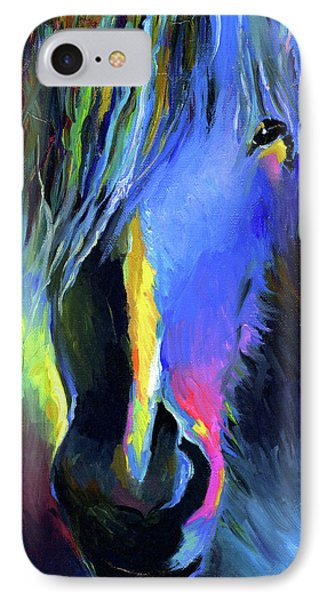 electric Stallion horse painting IPhone Case by Svetlana Novikova