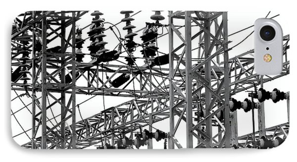 IPhone Case featuring the photograph Electrical Substation With Large Insulators by Yali Shi