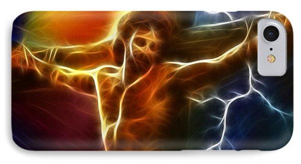 Electrifying Jesus Crucifixion Phone Case by Pamela Johnson