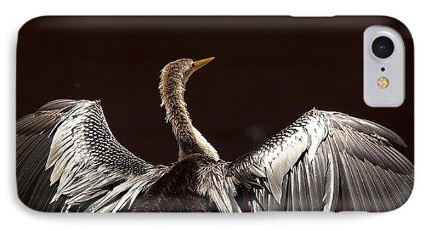 Elegant Anhinga IPhone Case by Kenneth Albin