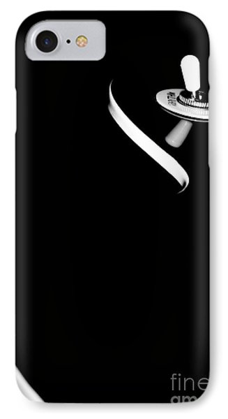 IPhone Case featuring the photograph Elegant Black Retro Electric Guitar  by Yurix Sardinelly