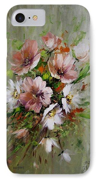 Elegant Flowers Phone Case by David Jansen