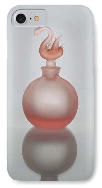 Elegant Frosted Pink Vintage Perfume Bottle IPhone Case by David and Carol Kelly