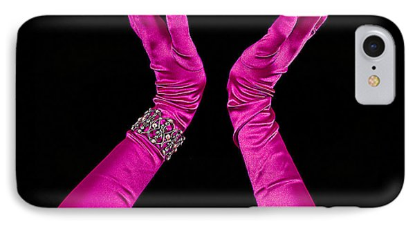 Elegant Fuchsia Arms/hands Clapping IPhone Case by Trudy Wilkerson