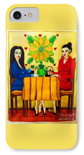 IPhone Case featuring the painting Elegant Ladies In A Coffee-shop by Don Pedro De Gracia