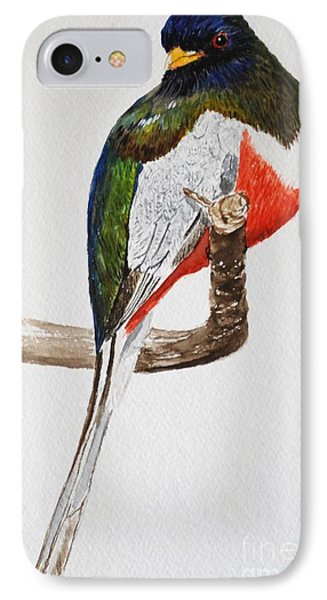 Elegant Trogon Phone Case by Stanton Allaben