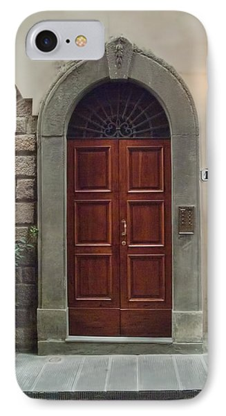 IPhone Case featuring the photograph Elegant Tuscan Door by Michael Flood