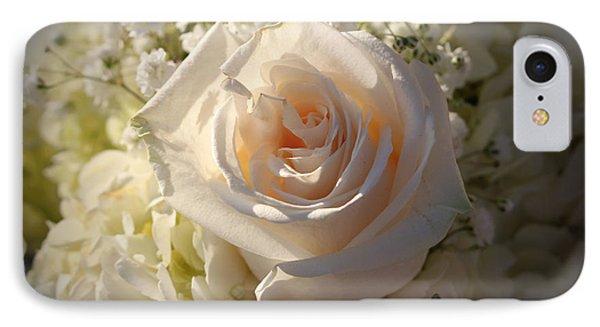Elegant White Roses IPhone Case by Cynthia Guinn
