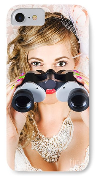 Elegant Woman Watching Spring Carnival Horse Races IPhone Case by Jorgo Photography - Wall Art Gallery