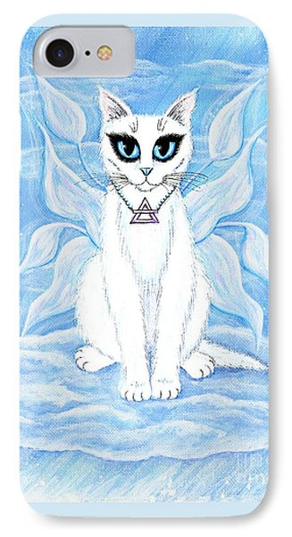 Elemental Air Fairy Cat IPhone Case by Carrie Hawks