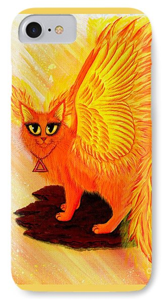 Elemental Fire Fairy Cat IPhone Case by Carrie Hawks