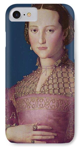 Eleonora Da Toledo IPhone Case by Agnolo Bronzino