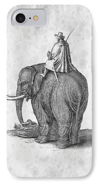Elephant 02 Historiae Naturalis 1657 IPhone Case by Aged Pixel