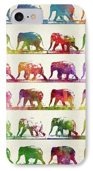 Elephant Animal Locomotion  IPhone Case by Aged Pixel