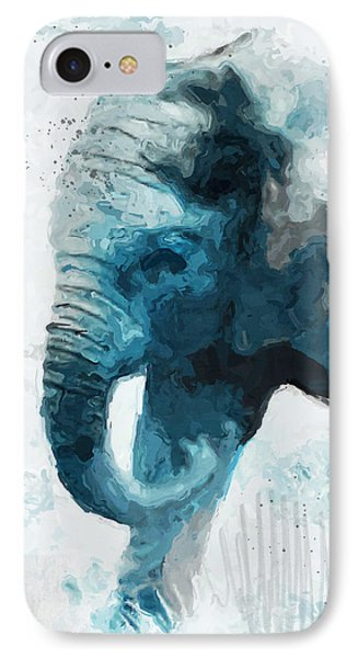 Elephant- Art By Linda Woods IPhone Case by Linda Woods