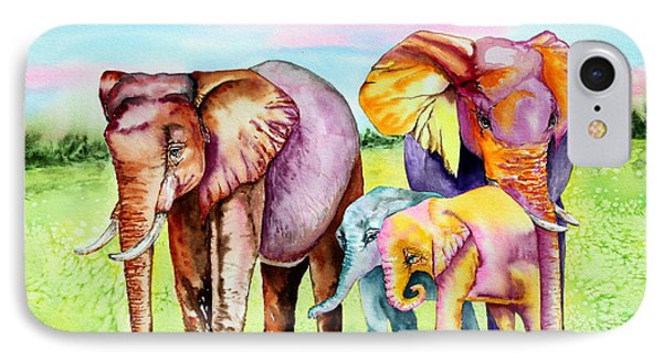 Elephant Aura IPhone Case by Maria Barry