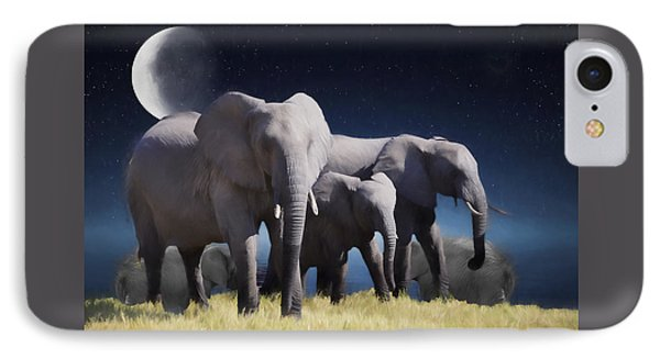 Elephant Bath Time Painting Phone Case by Ericamaxine Price