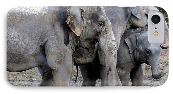Elephant Family IPhone Case