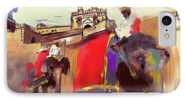 Elephant Festival 439 2 IPhone Case