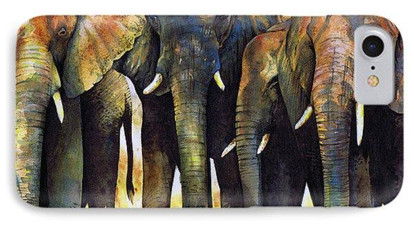 Elephant iPhone 7 Case - Elephant Herd by Paul Dene Marlor