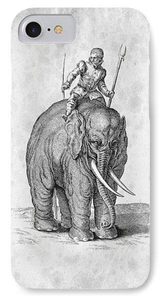 Elephant Historiae Naturalis 1657 IPhone Case by Aged Pixel