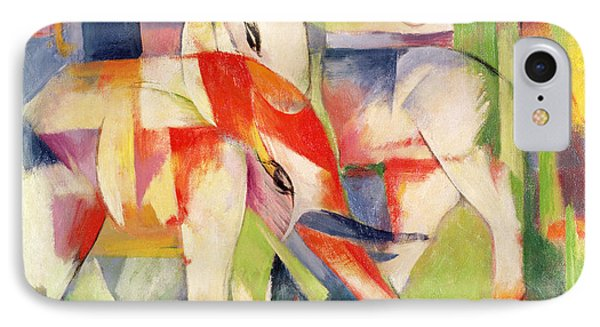 Elephant Horse And Cow IPhone Case by Franz Marc