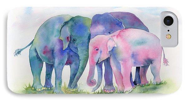 Elephant Hug IPhone 7 Case by Amy Kirkpatrick