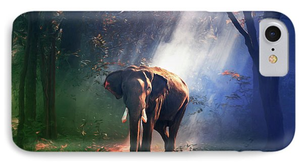 Elephant In The Heat Of The Sun IPhone Case