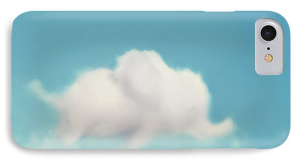 Elephant In The Sky IPhone Case by Amy Tyler