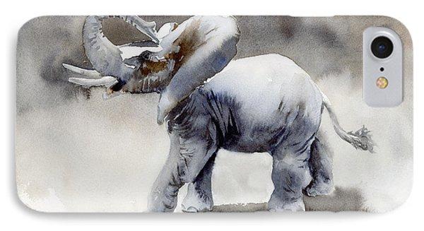 Elephant Light Study  Phone Case by Amy Kirkpatrick