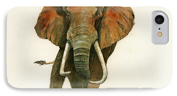 Elephant Painting           IPhone 7 Case by Juan  Bosco
