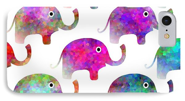 Elephant Parade IPhone Case by Kathleen Sartoris