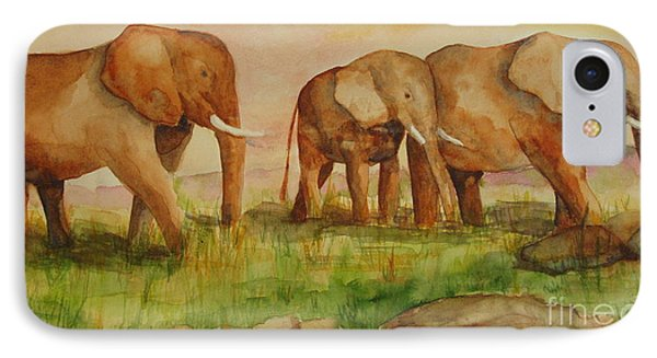 IPhone Case featuring the painting Elephant Parade by Vicki  Housel