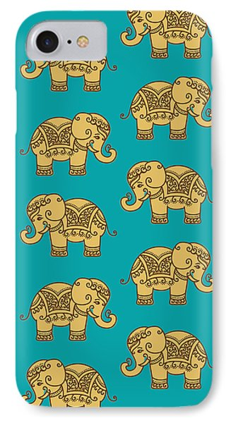 Elephant Pattern IPhone 7 Case by Krishna Kharidehal