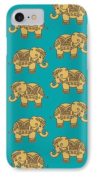 Elephant Pattern IPhone Case by Krishna Kharidehal
