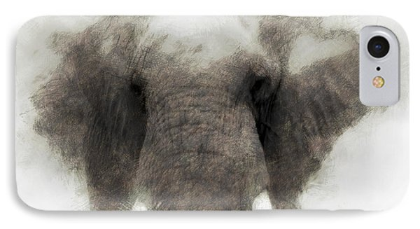 Elephant Portrait IPhone Case by John Stuart Webbstock