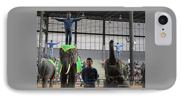 Elephant Show 2 IPhone Case by Randall Weidner