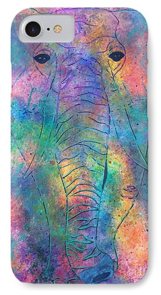 IPhone Case featuring the painting Elephant Spirit by Denise Tomasura