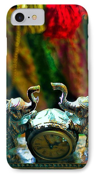 Elephant Time IPhone Case by Camille Lopez