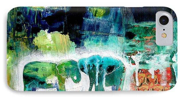 Elephants 2 IPhone Case by Jenn Ashton